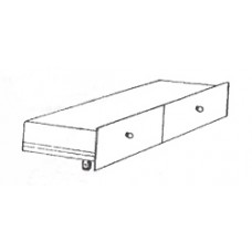 "Shaker 2 Drawer Under Bed Unit - Side by Side, 81""W"