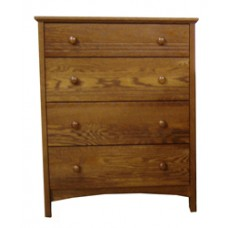 "Shaker 4 Drawer Chest w/3 Equal Size Drawers & Smaller Top Drawer, 36""W"