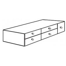 "Shaker 4 Drawer Under Bed Unit w/Open Compartment, 81""W"