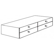 "Shaker 4 Drawer Under Bed Unit, 81""W"