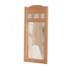 "Shaker Pediment Top Mirror, 19""W x 45""H"