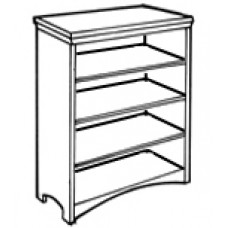 "Shaker Bookcase w/2 Fixed Shelves & 2 Adjustable Shelves, 59""H"