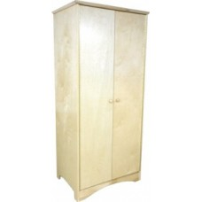 "Shaker Double Door Wardrobe w/Interior Shelf & Clothes Rod, 30""W, 60""H"