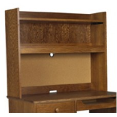 "Shaker Double Shelf Carrel w/Closed Back, 36""W"