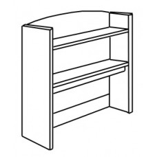 "Shaker Double Shelf Carrel w/Open Back, 36""W"