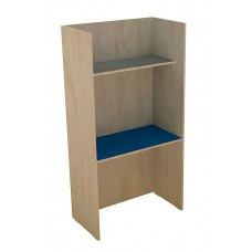 Study Shield Enclosed Work Station, Maple