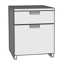 Urban Desk Pedestal with 1 Box & 1 File Drawer