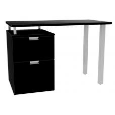 """Urban Pedestal Desk with Metal Open Leg End, 1 Box Drawer & 1 File Drawer, 45""""W"""