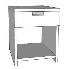 Urban Desk Pedestal with Top Drawer & Open Compartment