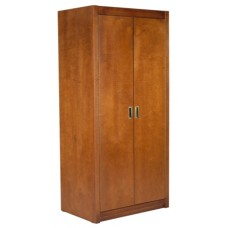 "Woodcrest Double Door Wardrobe w/Interior Shelf & Clothes Rod, 36""W, 60""H"