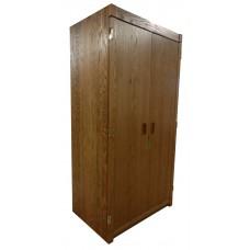 "Woodcrest Double Door Wardrobe w/Interior Shelf & Clothes Rod, 30""W, 78""H"