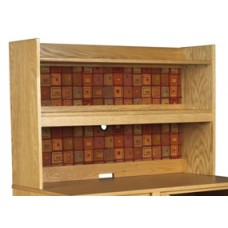 "Woodcrest Double Shelf Carrel w/Closed Back, 42""W"