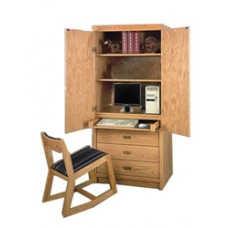 "Woodcrest Entertainment Chest/Desk, 60""H"