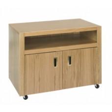 Woodcrest Media Stand w/2 Doors, Shelf Behind Doors & Top Shelf