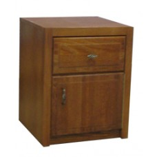 Woodcrest Nightstand w/Top Drawer & Compartment Door