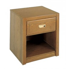 Woodcrest Nightstand w/Top Drawer & Open Compartment Below