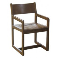Brycen Arm Chair w/Wood Seat & Back