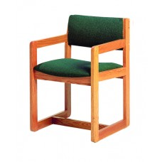 Nick Arm Chair w/Upholstered Seat & Back