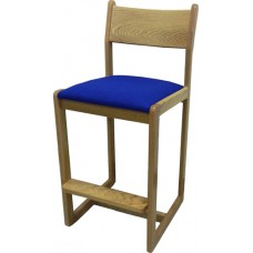 Brycen Bar Stool w/Upholstered Seat & Wood Back