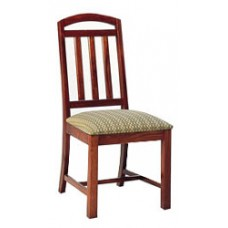 Mission Chair w/Upholstered Seat & Wood Back