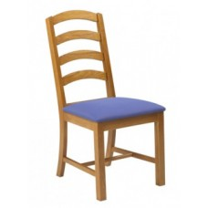 Arch Chair w/Upholstered Seat & Wood Back