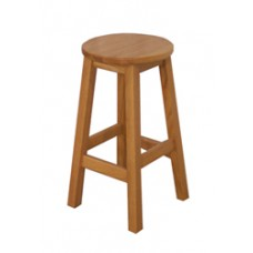 "18""H Gus Stool w/Solid Oak Seat"