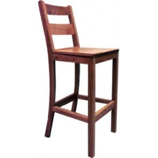 Ladderback Bar Stool w/Wood Seat
