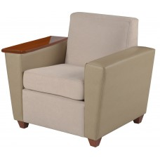 Elle Arm Chair w/One Fixed Tablet Arm