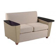 Elle Settee w/Fixed Tablet Arms