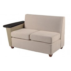 Elle Settee w/Left Tablet Arm Only