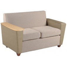 Elle Settee w/One Fixed Tablet Arm