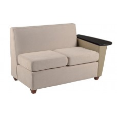 Elle Settee w/Right Tablet Arm Only