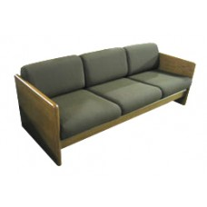 Ship Plank Sofa w/Attached Reversible Cushions