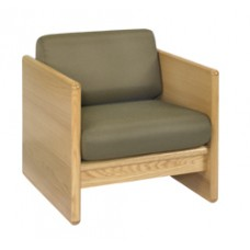 Ship Plank Chair w/Attached Reversible Cushion
