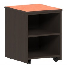 Apollo Nightstand/Pedestal w/2 Storage Shelves