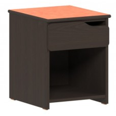 Apollo Nightstand/Pedestal w/Top Drawer & Storage Shelf