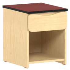 Aero Nightstand/Desk Pedestal w/Top Drawer & Storage Shelf