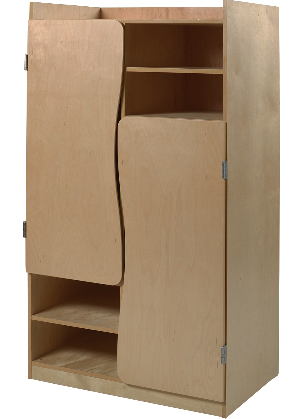 "Aero 2 Compartment Wardrobe w/4 Storage Shelves, 42""W"