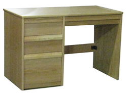 "Homestead Panel End Pedestal Desk w/2 Box Drawers, 1 File Drawer & Pencil Drawer, 42""W"