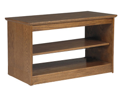 "Nittany Media Stand w/2 Fixed Shelves, 42""W"