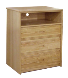 "Nittany Media Chest w/3 Drawers & 1 Top Open Compartment, 30""W"