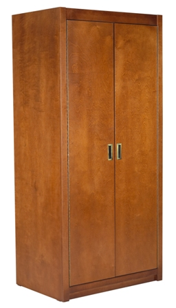 "Woodcrest Double Door Wardrobe w/Interior Shelf & Clothes Rod, 42""W, 60""H"