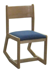 Webster Sedona Unibody Two Position Chair w/Upholstered Seat & Wood Back