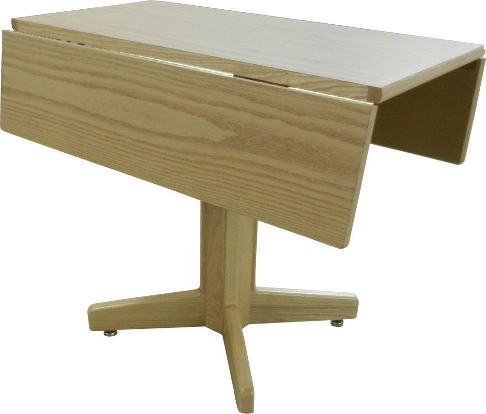 Nittany Double Drop Leaf Tables W/Wood Pedestal Bases U0026 Square Tops