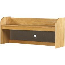 Bookcase Carrel Attachment for Reversible Bedside Storage Unit