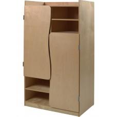 "Aero 2 Compartment Wardrobe w/4 Storage Shelves, 36""W"