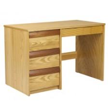 "Homestead Panel End Pedestal Desk w/3 Equal Drawers & Pencil Drawer, 42""W"