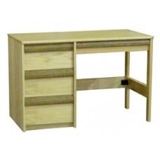 "Homestead Open Leg Pedestal Desk w/3 Equal Drawers & Pencil Drawer, 42""W"