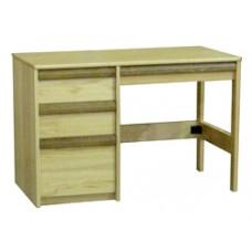 """Homestead Open Leg Pedestal Desk w/2 Box Drawers, 1 File Drawer & Pencil Drawer, 42""""W"""