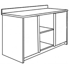 "Homestead Media Chest w/2 Doors, 1 Fixed Shelf & 1 Adjustable Shelf, 48""W"